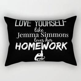 Love Yourself like Jemma Simmons Loves Her Homework - AoS Rectangular Pillow