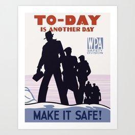 Workplace Safety Art Print