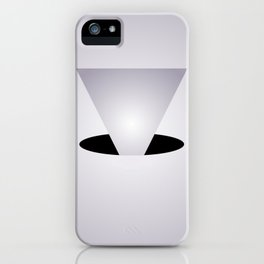 Entry Monochrome - Black and White Abstract Art iPhone Case