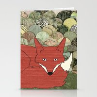 mr fox Stationery Cards featuring Mr. Fox by Elephant Trunk Studio