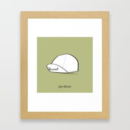 Grimpeur - Bartali cap Framed Art Print