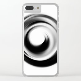 Soft Black Enso - Art by Sharon Cummings Clear iPhone Case