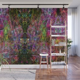 Third Mind Wiring (abstract, psychedelic, visionary) Wall Mural