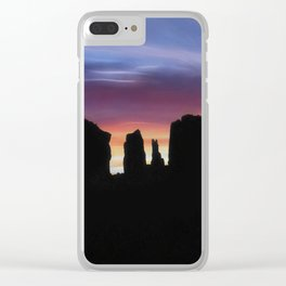 Sunrise Silhouettes Clear iPhone Case