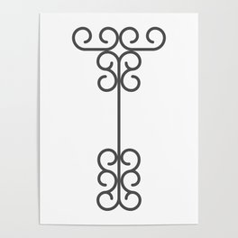 "Letter ""T"" in beautiful design Fashion Modern Style Poster"