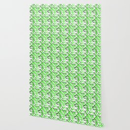 Intersecting light green lines with a black diagonal on a white background. Wallpaper