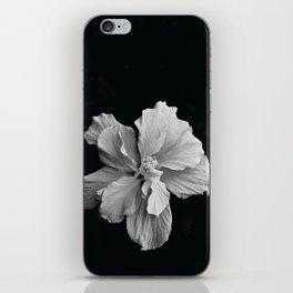 Hibiscus Drama - Black and Grey iPhone Skin