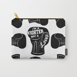 I'm A Fighter Not A Lover - Black Carry-All Pouch