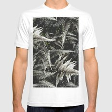 Ferns - A Pattern Mens Fitted Tee White MEDIUM