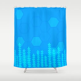 Hex Plants Shower Curtain