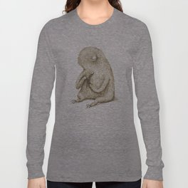 Sloth With Flower Long Sleeve T-shirt