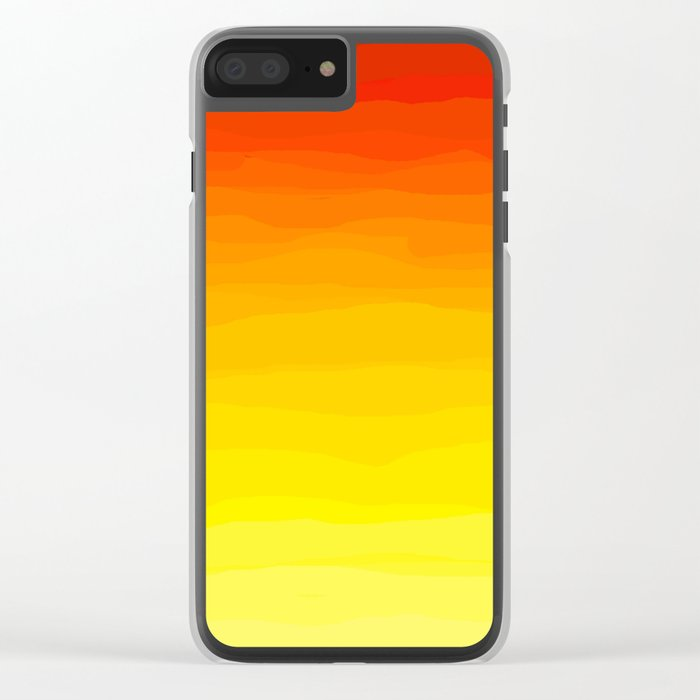 Red to Yellow Sunset Clear iPhone Case