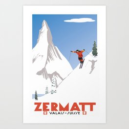 Zermatt, Valais, Switzerland Art Print