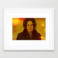 jack white Framed Art Prints featuring Jack White by yahtz designs
