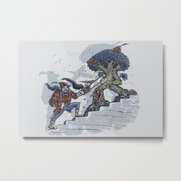The Never Ending Duel Metal Print
