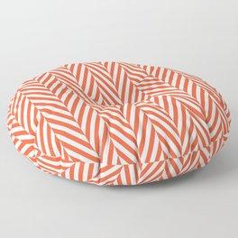 Orange Herringbone Floor Pillow