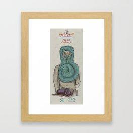 El Hipnotizador Romántico/The Romantic Hypnotist & Pablo Malaurie Framed Art Print