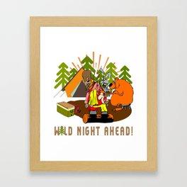 Camping Wild Night Ahead Framed Art Print