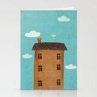 plane Stationery Cards featuring Plane by Oksana Tarasova