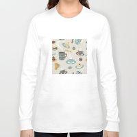 good morning Long Sleeve T-shirts featuring Good Morning! by rusanovska