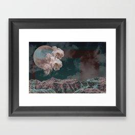 supermoon in taurus Framed Art Print