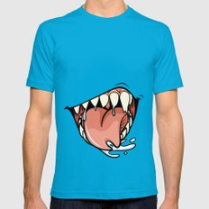 HUNGER Teal Mens Fitted Tee LARGE