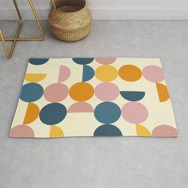 Summer Vibes - Vibrant Abstract Geometric Circles Rug
