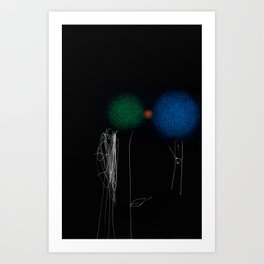pom pom b Art Print
