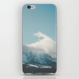 Bridger Mountain Cloud Cover iPhone Skin