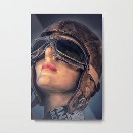 10685 Lady Aviator Metal Print