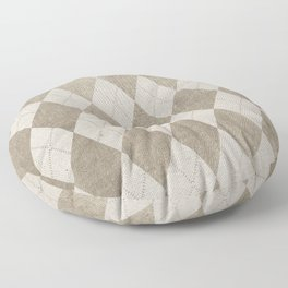 Canvas Design with Diamond Shapes and a Great Texture Floor Pillow