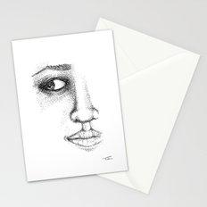 Fine Liner Stippling Girl 1 Stationery Cards