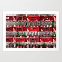 coca cola Art Prints featuring Coca-Cola by ArpanDholi