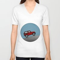 jeep V-neck T-shirts featuring Jeep Jeep by rochaStuff