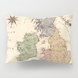 Map Of Great Britain 1795 Pillow Sham
