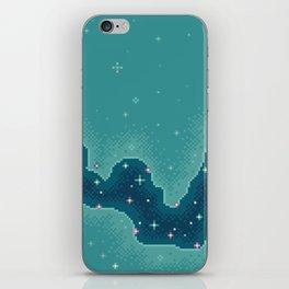 Aqua Rift Galaxy (8bit) iPhone Skin
