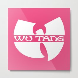 white in pink wu-tang Metal Print