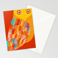 Terracotta Owl Stationery Cards
