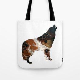 Brown Fluid Wolf Image Art Design Tote Bag