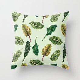 Go Green - Leafy Green Pattern Throw Pillow