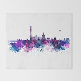 Washington DC Skyline Throw Blanket
