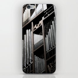 Gray and Brown Steel Organ Musical Instrument Abstract Print iPhone Skin