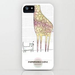 LOVE IN OUR OPINION - IMPOSSIBLE LOVE iPhone Case