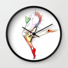 Layfair, female ballet dancer leg, NYC artist Wall Clock