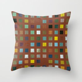 Rustic Wooden Abstract Vll Throw Pillow