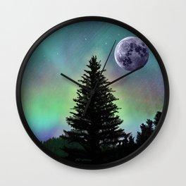 Northern Aurora Wall Clock