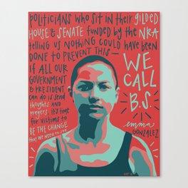Emma Gonzalez. Canvas Print