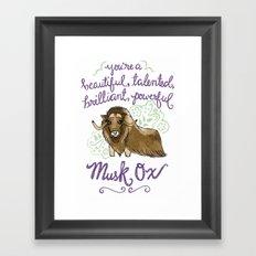 Leslie Knope Compliments: Musk Ox Framed Art Print