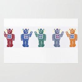 Toy Robot Parade Rug