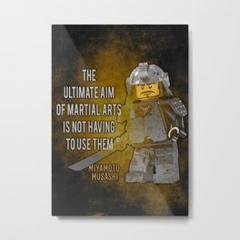 Samurai Musashi, ultimate aim martial arts Metal Print